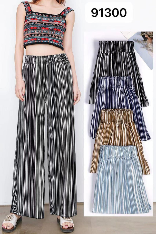 Pack of 2 Women's Lining Printed Palazzo Pants