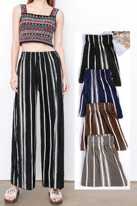 Pack of 2 Women's Wide Leg Palazzo Pants