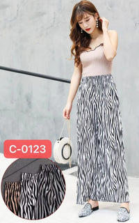 Pack of 2 Women's Straight Printed Palazzo Pants