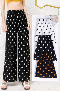 Pack of 2 Women's Dotted Palazzo Pants