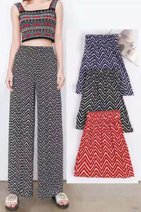 Pack of 2 Women's Textured Palazzo Pants