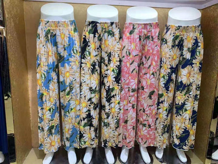 Pack of 2 Women's Flower Printed Palazzo Pants