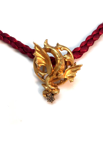 Antique Dragon Diamond Pendant