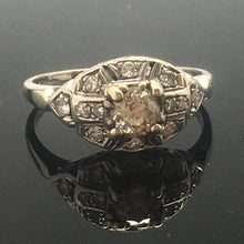 Load image into Gallery viewer, Antique Engagement Diamond Ring