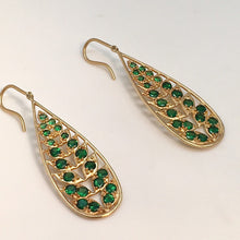 Load image into Gallery viewer, Jamie Wolf 18k Tsavorite Drop Earrings