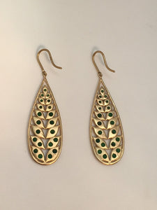 Jamie Wolf 18k Tsavorite Drop Earrings