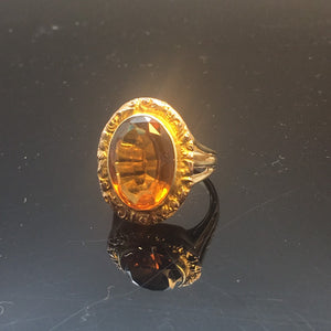 Vintage Antique Ring Jewelry  14k Citrine  Statement
