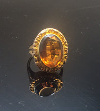 Load image into Gallery viewer, Vintage Antique Ring Jewelry  14k Citrine  Statement