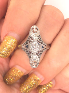 Diamond Art Deco Antique RIng