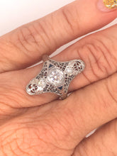 Load image into Gallery viewer, Diamond Art Deco Antique RIng