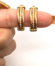 Load image into Gallery viewer, Diamond Earrings Charriol Hoops 18k