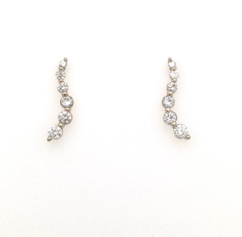 Diamond Earrings, 14k, Waterfall, Journey