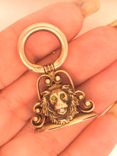 Load image into Gallery viewer, Victorian Charm Lion 14k Fob