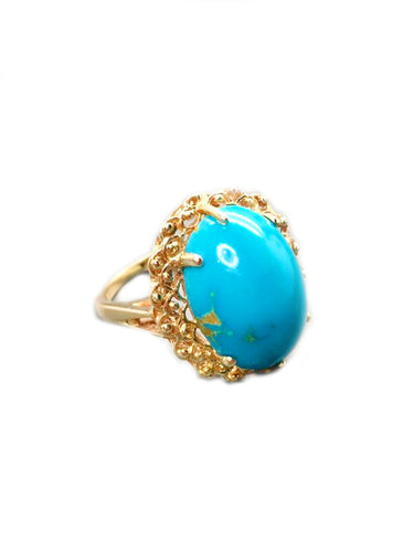 Sold Turquoise 14k Yellow Gold Ring
