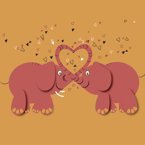 Kissing Elephants