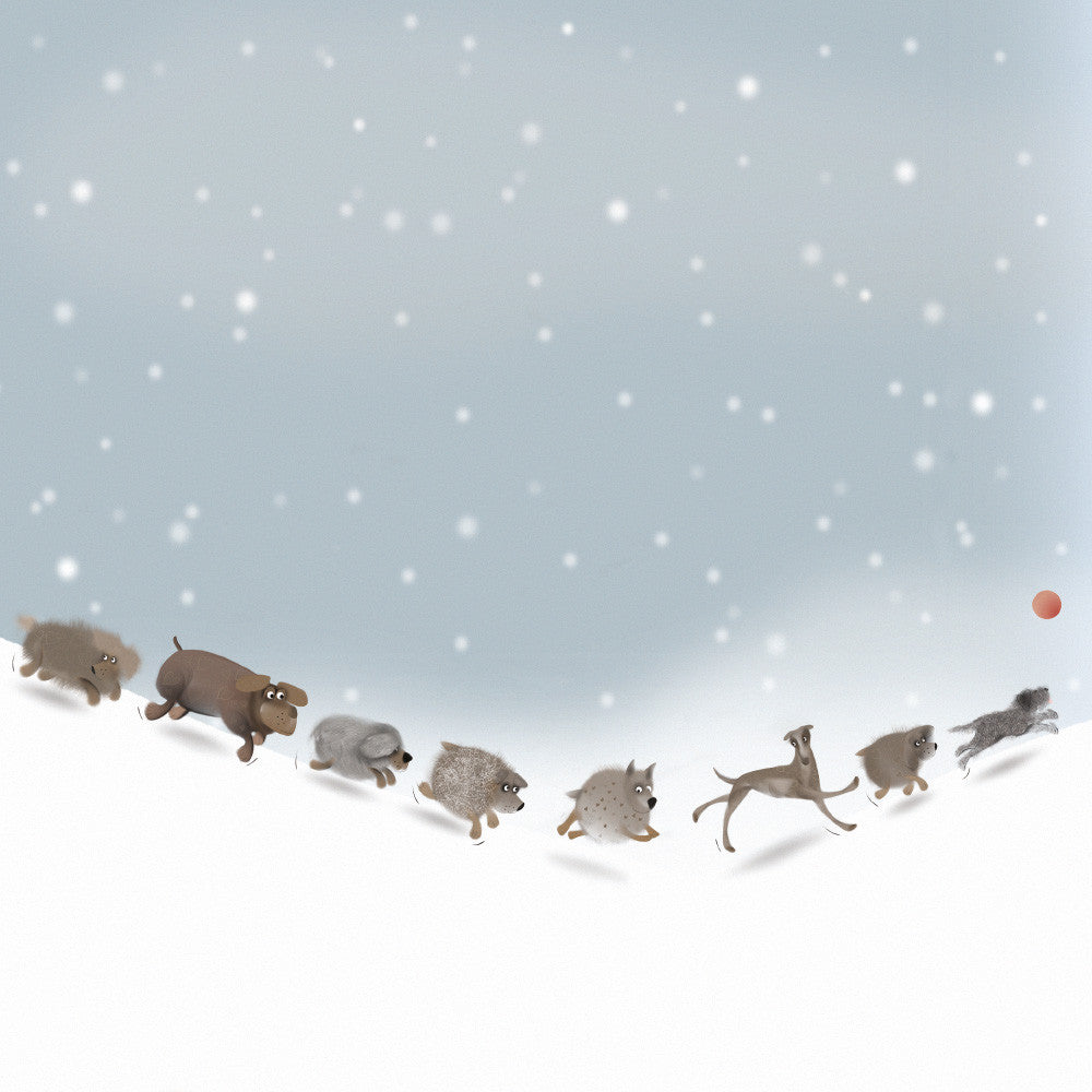 A Throw in the Snow | Cute and quirky animal themed greetings card