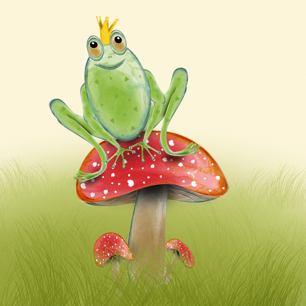 Frog Prince – a frog themed greetings card