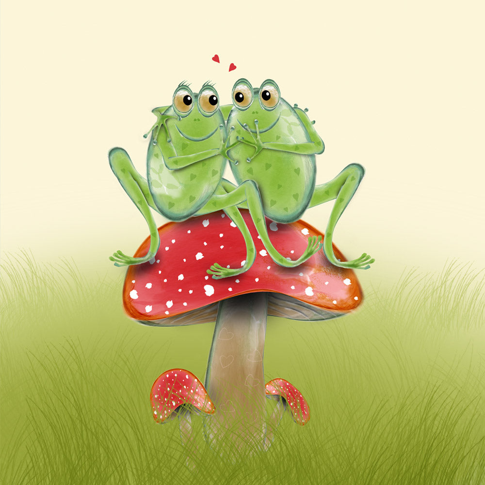 Frog Snog – a frog themed greetings card