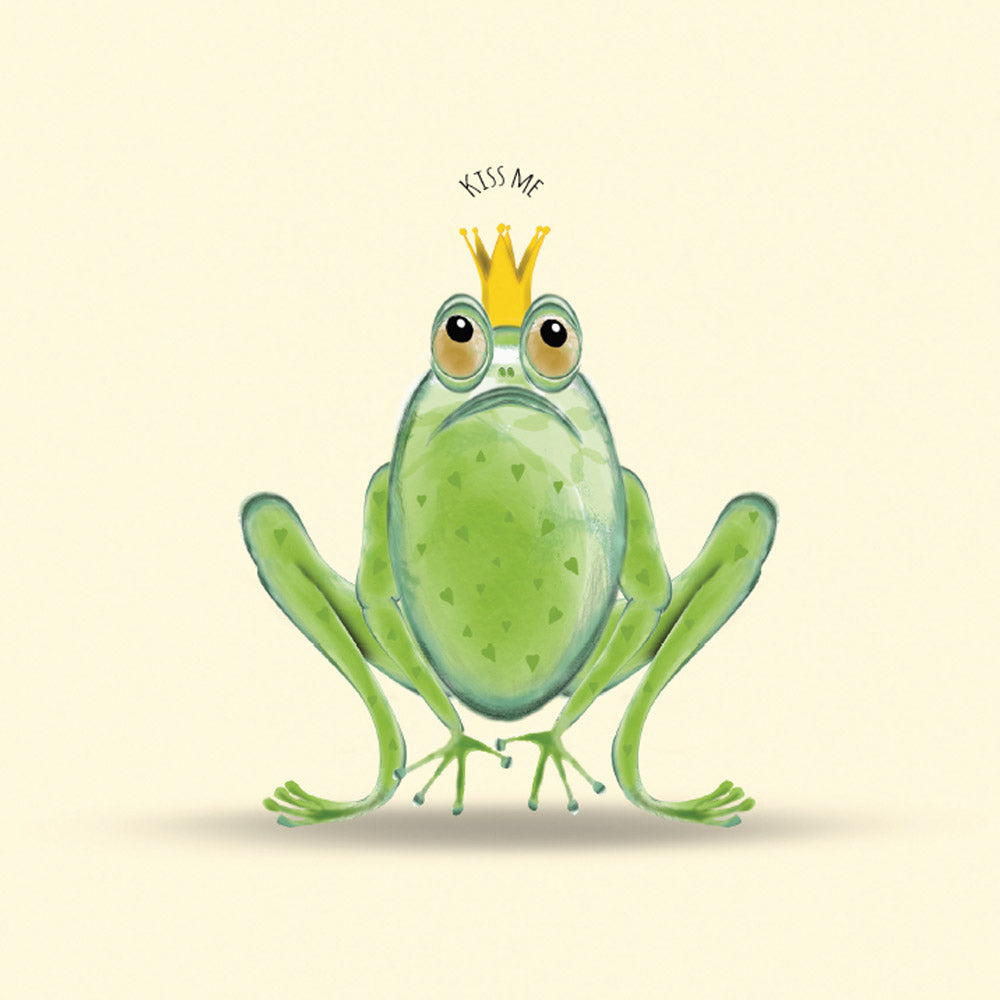 Kiss This – a frog themed greetings card