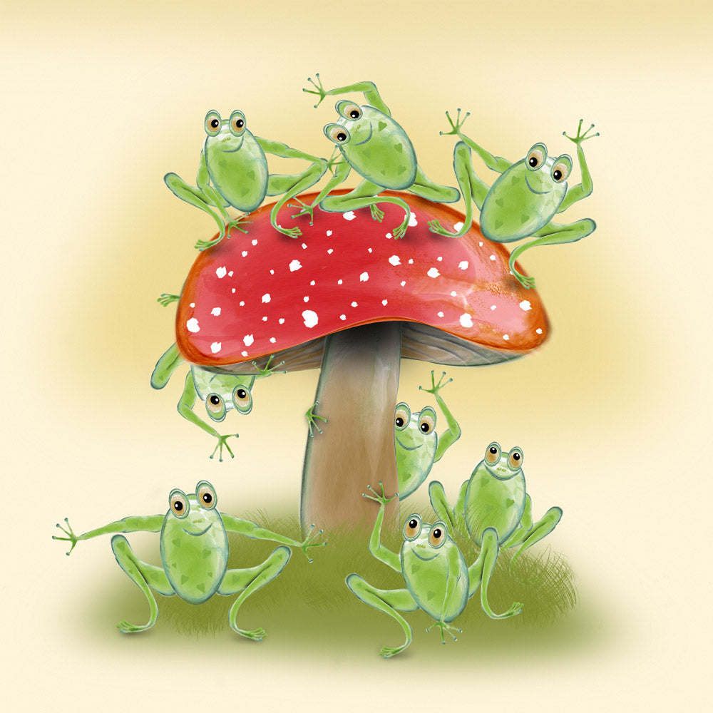 Toad Abode – a frog themed greetings card
