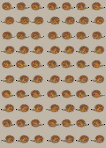 Hedgehog wrap – cute and quirky hedgehog themed wrapping paper with tags