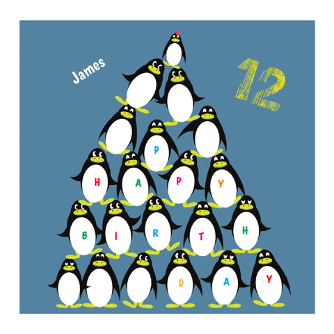 Penguin Pile Birthday