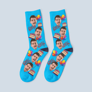 Personalized Birthday Face Socks