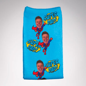 Personalized Super Dad Socks