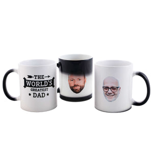 World's Greatest Dad Personalized Heat Change Mug