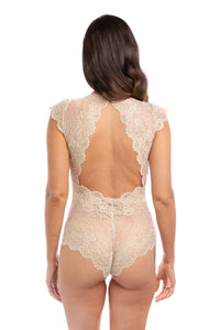 Gold Rush Metallic Lace Bodysuit