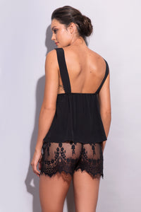 Calla Lily Floral Lace Shorts