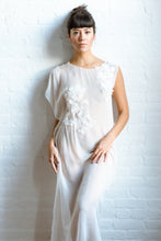 Load image into Gallery viewer, Limited Edition Hand Embroidered Silk Chiffon Caftan