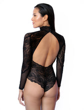 Load image into Gallery viewer, Edinburgh Long Sleeve Tulle and Floral Lace Bodysuit