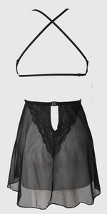 York Lace Strappy Short Nightdress