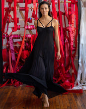 Load image into Gallery viewer, Edinburgh Sunburst Pleated Long Nightgown with Velvet Elastic Straps