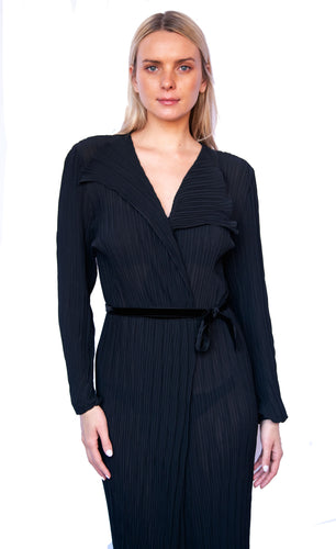 Edinburgh Skinny Plissé Pleated Wrap Robe