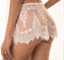 Load image into Gallery viewer, Calla Lily Floral Lace Shorts