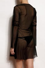 Load image into Gallery viewer, Milano Long Sleeve Tulle and Lace Nightgown