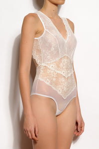 Hibiscus Cascading Lace and Tulle Bodysuit