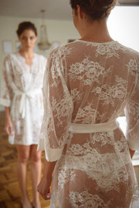 Cambridge Lace and Silk Robe