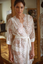 Load image into Gallery viewer, Cambridge Lace and Silk Robe