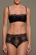 Load image into Gallery viewer, Paris Draped Tulle Soft Cup Underwire Balconette Bra