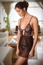 Load image into Gallery viewer, York Lace Strappy Short Nightdress