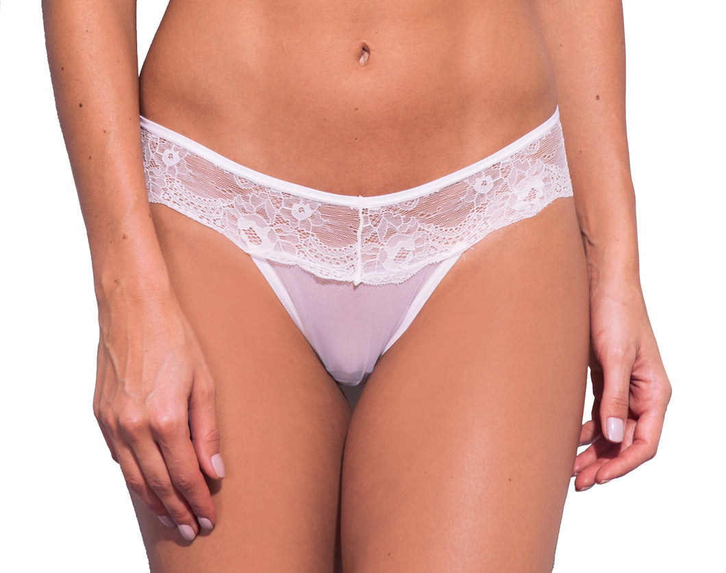 Milano Floral Lace Tulle Thong