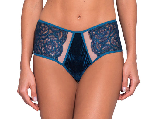 Iris Tulle and Velvet Panties