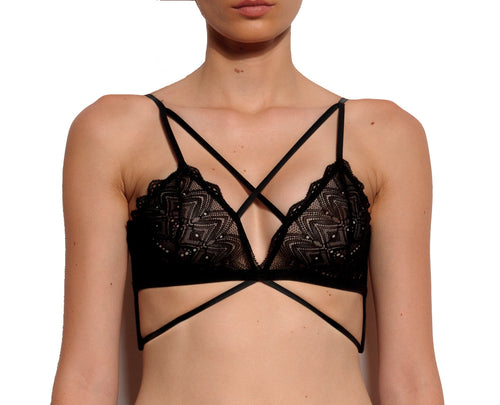 Berlin Criss Cross Strappy Soft Bralette