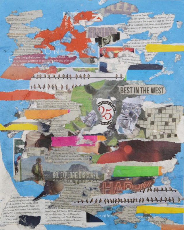 Newspaper Collage #841