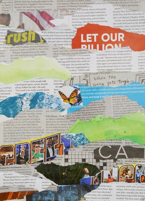 Newspaper Collage #844