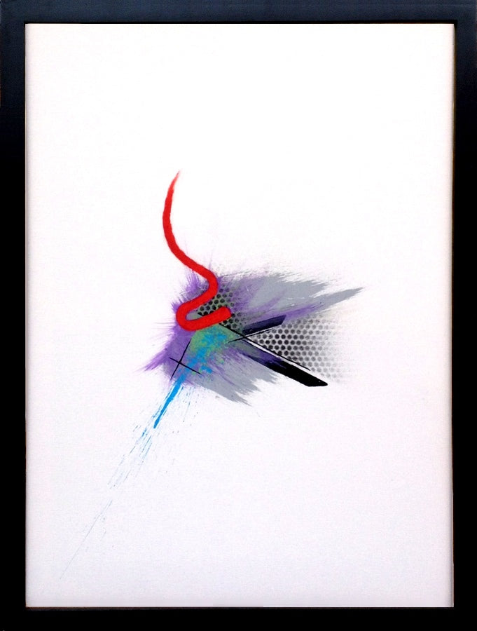 Centrifugal White Abstract Painting
