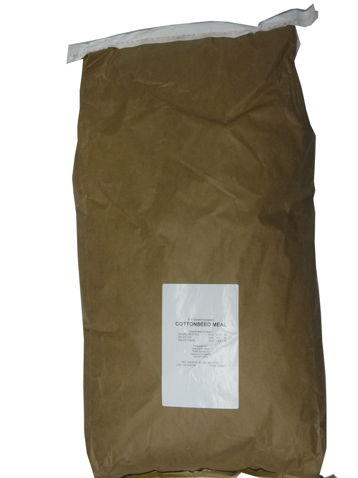 COTTON SEED MEAL* 50# bag